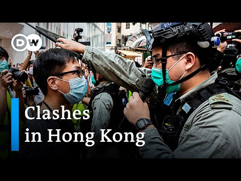 Hong Kong police try to disperse anti national anthem bill protests | DW News