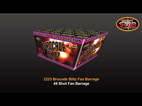 Bright Star Elite Collection Brocade Blitz - 49 Shot Fan Barrage