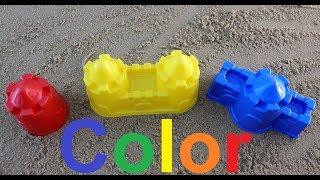 Learn Colors for Children Sand Molds cake/учим цвета на английском языке