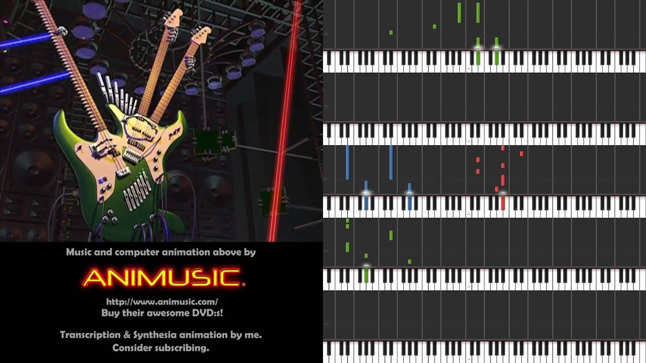 Animusic - Future Retro [Synthesia sheet music] - YouTube