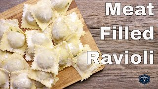 🔵 How To Make Meat Filled Ravioli From Scratch || Glen & Friends Cooking