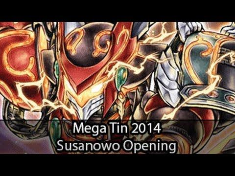 Yugioh Mega Tin 2014 Bujin Susanowo Pack Opening
