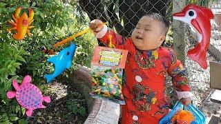 Trò Chơi Bé Vui Sân Vườn Bất Ngờ ❤ ChiChi ToysReview TV ❤ Đồ Chơi Trẻ Em Baby Doli Bài Hát