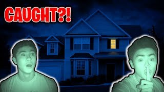 I Spent the Night in My Own House (CAUGHT?!) | 24 Hour Overnight Challenge