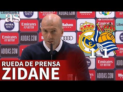 """REAL MADRID 1- REAL SOCIEDAD 1   Rueda de prensa de ZIDANE: """"Esto es el fútbol""""   Diario AS"""