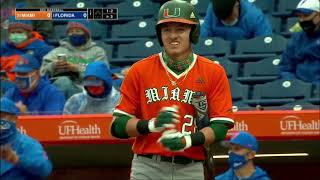 Florida vs Miami | NCAA Baseball Feb 19,2021