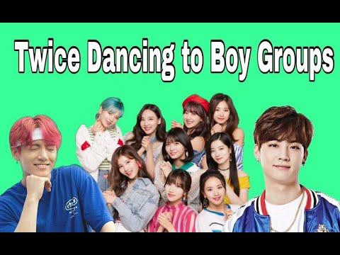 Twice dancing to Boy Groups
