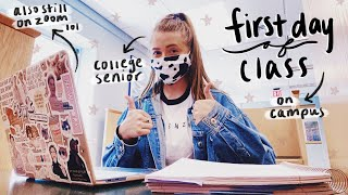 FIRST DAY OF COLLEGE VLOG: senior year during a pandemic (2020)