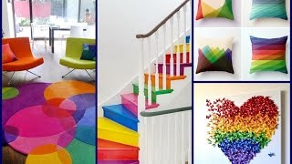 Colorful Summer Decor Ideas - Rainbow Home Decorating Ideas