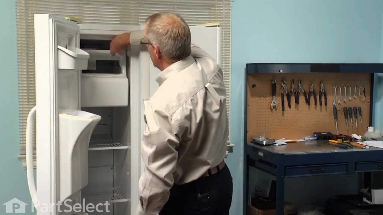 Refrigerator Repair Replacing The Ice Container Assembly