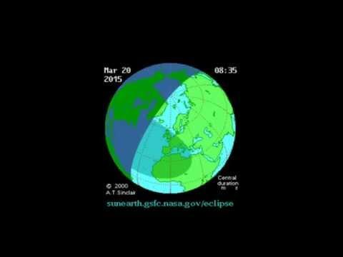 Eclissi solare 20 marzo 2015: video animazione