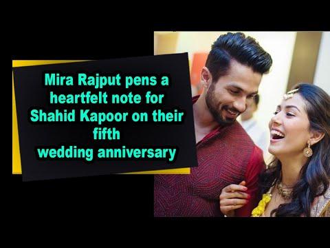 Mira Rajput pens a heartfelt note for Shahid Kapoor on their fifth wedding anniversary