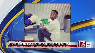 Silver Alert issued for 11-year-old Raleigh boy