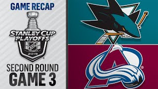 Couture's hat trick propels Sharks to Game 3 victory