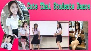 Cute Thai student Dance Korean style in dancing contest, Thailand
