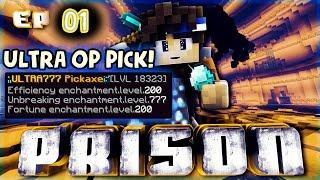 Minecraft OP Prison Ep.1 MOST OP PICK EVER!?! [Cyclone Network]