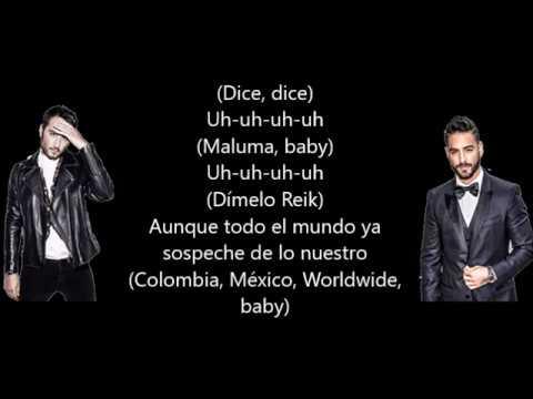 Amigos con derecho[LETRA]-Reik ft. Maluma