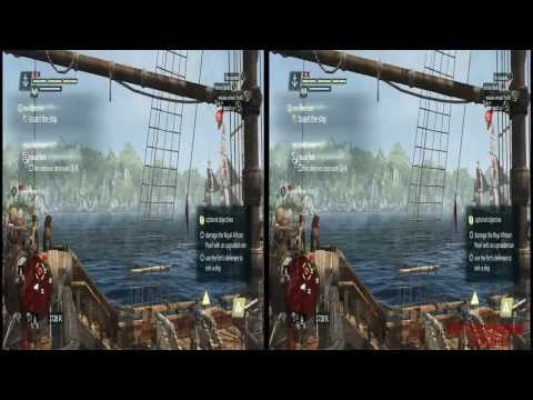 YT3D - Assassins Creed IV 3D: Black Flag Very High Settings S8M2 Walkthrough Live Stream Part 14