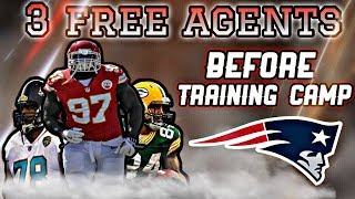 3 Free Agents the Patriots could Sign before Training Camp