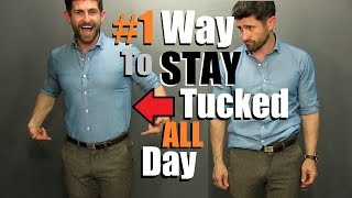#1 Way To Keep Your Shirt Tucked In ALL Day! (Testing 4 Ways To Find The BEST)