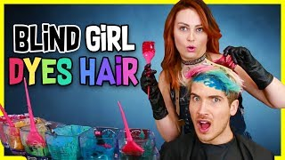 Blind Girl Dyes My hair! *DRAMATIC* W/ Molly Burke