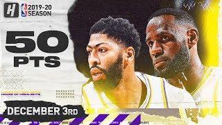 LeBron James & Anthony Davis 50 Pts Combined Highlights vs Nuggets | December 3, 2019
