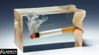 A Burning CIGARETTE in Epoxy Resin / RESIN ART