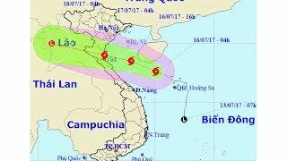 Tin Bão Mới Nhất: Bão số 2 mạnh cấp 9 tiến vào Thanh Hóa - Hà Tĩnh