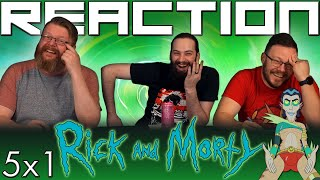 """Rick and Morty 5x1 REACTION!! """"Mort Dinner Rick Andre"""""""