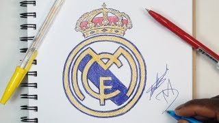 How To Draw The Real Madrid Logo - Using Ballpoint Pens
