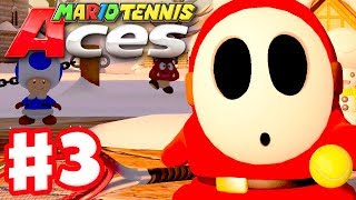 Mario Tennis Aces - Gameplay Walkthrough Part 3 - Snowfall Mountain! (Nintendo Switch)