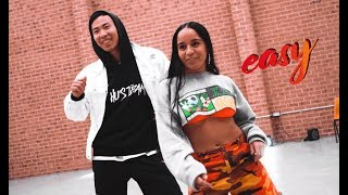 DaniLeigh - Easy (Remix) ft. Chris Brown Dance Choreography by Hu Jeffery