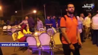 صدى البلد | طلاب التربية العسكرية بجامعة القاهرة يأمنون السحور الجماعي ...