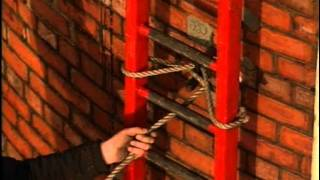 Fred Dibnah laddering a chimney (Part 1)