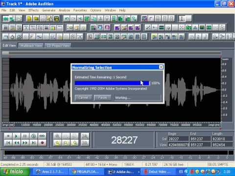 Como Masterizar,ecualizar para obtener una buena voz en Adobe audition 1.5(Pedido)