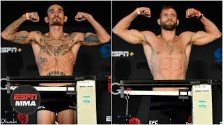 Ariel Helwani & Brett Okamoto preview Max Holloway vs Calvin Kattar | UFC Fight Night Weigh-In Recap
