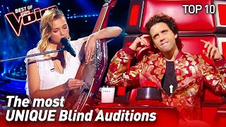 TOP 10 | Extraordinarily UNIQUE Blind Auditions in The Voice
