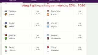 lịch thi đấu giải ngoại hạng anh 2019 _ 2020
