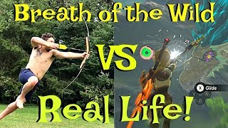 Zelda Breath Of The Wild Vs Real Life Funny Comparison & Funny Moments! (Botw)
