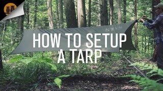 How to Setup A Tarp with a Ridgeline