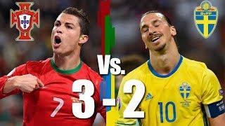 Thụy Điển 2  3 Bồ Đào Nha Ronaldo một tay đưa đội nhà đến World Cup