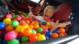 1 MILLION BALLS IN GIRLFRIEND'S CAR PRANK!