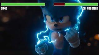 Sonic vs. Dr. Robotnik WITH HEALTHBARS | Full Final Battle | HD | Sonic the Hedgehog