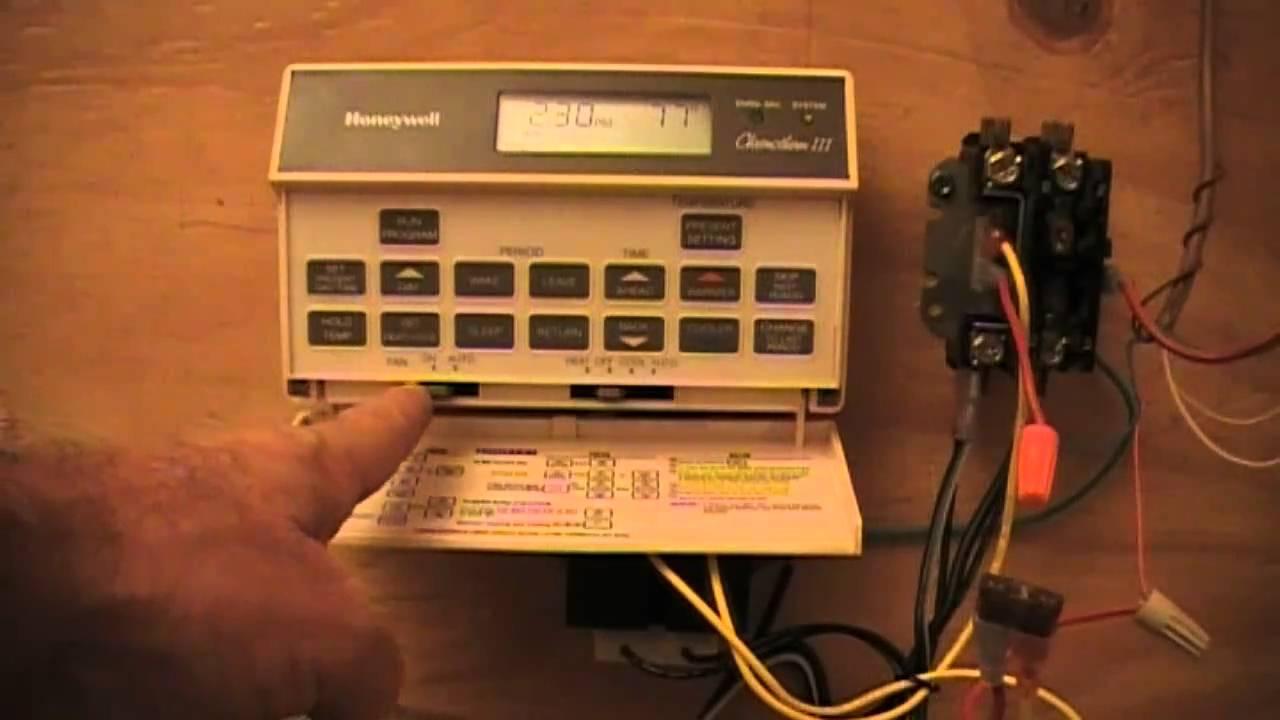 Hvac Old Honeywell T8601d Youtube