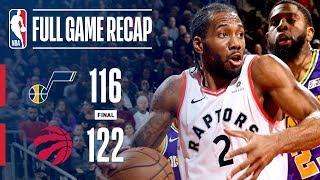 Full Game Recap: Jazz vs Raptors | Kawhi Scores Career-High