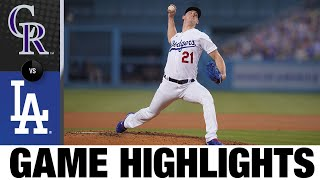 Buehler K's 11 to lead Dodgers to 5-1 win | Rockies-Dodgers Game Highlights 8/21/20