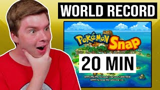 PokeTuber Reacts to Pokémon Snap World Record Speedrun