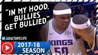 Zach Randolph vs DeMarcus Cousins BIG Duel Highlights (2017.12.08) Kings vs Pelicans - CRAZY BEEF!