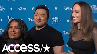 Salma Hayek Freaks Out Over 'Eternals' Co-Star Angelina Jolie In This Interview!