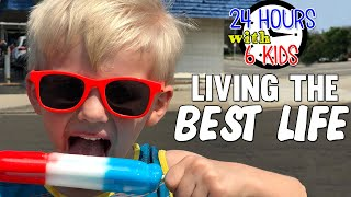 24 Hours with 6 Kids on a FUN Day!